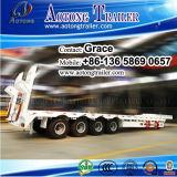 3つの車軸低いベッドのトレーラーのLowbedの頑丈な半トレーラー、60トンから販売のための低いローダーのトラックのトレーラー100トンの