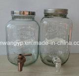 8L de Automaten van de Drank van het Glas van het volume met de Sponnen van het Brons
