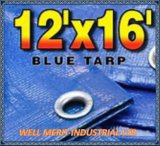 2oz-4oz 12 ' x16 Waterproof o encerado poli azul