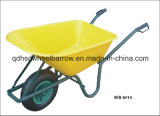 Venda quente plástica do Wheelbarrow Wb6414A da bandeja para o mercado global