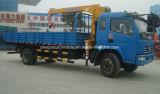 고품질 4X2는 판매를 위한 기중기로 트럭 3 톤 지브 기중기 5개 T 트럭 거치했다