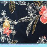 Tela de rayon floral da saia da impressão para vestidos das mulheres