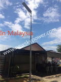 Alle in einem 30W LED Solarstraßenlaternefür 7-8m Pole mit Lithium-Ionenbatterie schlossen ein