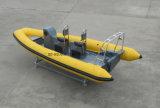 Сторожевой катер нервюры Китая Aqualand 19feet 5.8m/твердые раздувные рыбацкая лодка/шлюпка спасения/подныривания (RIB580)