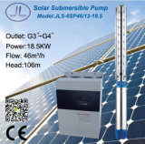 bomba de água solar centrífuga da irrigação 6sp46-12 submergível