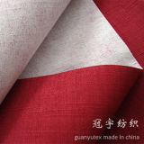 Home d'imitation Textile Linen Fabric avec Knitted Backing Oxford Style