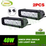 barra ligera auto de la lámpara LED del trabajo de 8inch 40W con el CREE LED