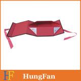 Rectángulo de empaquetado plegable rígido de lujo magnético negro de encargo/rectángulo plegable/rectángulo de regalo de papel