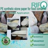 Бумага утеса PE синтетическая бумажная для различного контейнера еды/упаковывать