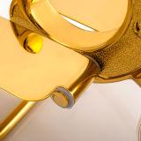 Supporto di carta igienica degli accessori della stanza da bagno in oro placcato e verniciato