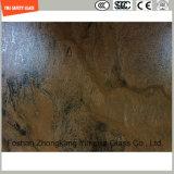 vidro moderado 4-19mm da textura da pedra da Uv-Resistência para a mobília ou a decoração ao ar livre