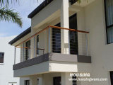 Wooden Handrail를 가진 DIY Balcony Wire Railing/Cable Balustrade