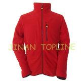 MicrofleeceのPolarfleeceの長いジッパーの羊毛のジャケット