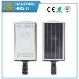 15W LED todo en una luz de calle solar con Ce