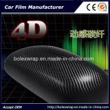 Pellicola del vinile dell'automobile dell'autoadesivo del vinile della fibra del carbonio del rullo 4D del vinile dell'involucro dell'automobile