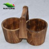 Nature 100% Handmade Wooden Flower Pots pour Outdoor