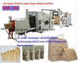 Papierbeutel-Dichtung und Schweißgerät für den quadratischen unteren Papierbeutel, der Maschine herstellt