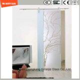 Etch фингерпринта Silkscreen Print/No 4-19mm кисловочный/Frosting/картина плоская/согнули Tempered/Toughened стекло для двери/двери окна/ливня в гостинице и доме