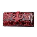 Saco de embreagem do couro da corrente do ombro do estilo chinês da alta qualidade para senhoras