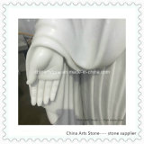 Sculpture de marbre blanche pure en statue d'Onxy pour le jardin