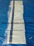 Folha de encerado do PE da alta qualidade, tampa branca Finished com as faixas azuis de Strengthing, encerado do caminhão de encerado