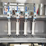 Разлитое по бутылкам пластмассой машинное оборудование запечатывания масла еды заполняя покрывая