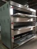 Four de boulangerie industriel de plateaux du paquet 9 du gaz 3