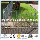 Puder beschichtete galvanisierten Bogen-Rollenoberseite-Geländer-Zaun