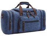濃紺のキャンバスの広いハンドバッグのショルダー・バッグ旅行袋