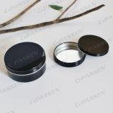 cosméticos 150g de alumínio pretos lustrosos que empacotam o recipiente