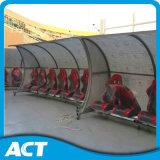 Dugouts de futebol portátil de luxo de design novo, bancada de futebol de futebol para o exterior