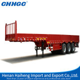 de 3axle los 40FT del cargo 40tons de la pared lateral del carro acoplado plano semi