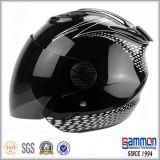 Capacete aberto da motocicleta da face do preto puro fresco (OP201)
