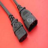 C13 к C14 фиксируя силовые кабели