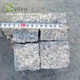 Cobble гранита цвета естественной толщины поверхности 5cm вымощая камня Split серый