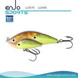 Señuelo Lipless de los trastos de los productos pesqueros de los pescados selectos de la escuela del pescador con los ganchos de leva agudos de Bkk (LL0570)