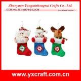 Décoration de Noël (ZY15Y036-1-2) Chaussette en sapin de Noël Ensemble pendaison pour Noël