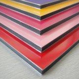 el revestimiento de madera de pared barato más inferior del panel ACP de 4m m PVDF del precio compuesto de aluminio de la hoja