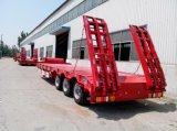 3개의 차축 80t Lowbed Cargo Truck Semi Trailer