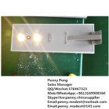 lâmpada de rua solar Integrated ao ar livre do diodo emissor de luz 80W com o sensor de movimento para o jardim
