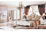 ドレッサー、ワードローブ、夜立場(6009)が付いている高貴な様式の寝室セット