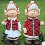 Polyresin Christmas Gifts Polyresin para el jardín Decoartion