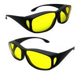 A segurança de laser Eyewear para o Ce de 190-490nm O.D 4+ certificou com frame preto para lasers UV e violetas