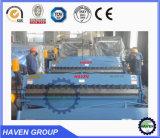 WH06-1.5X3050 tipo manual máquina de dobra e de dobramento da placa de aço