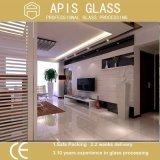 ホーム装飾的なTVの背景の壁のガラス内部のガラス陶磁器の絵画緩和されたガラス