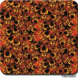 Tsautop 0.5m Width Skull Flame Hydrographic Water Transfer Printing Film