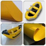 Tela inflable del barco del alto de la hermeticidad encerado del PVC