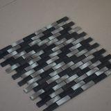 Azulejo de mosaico de cristal del metal de la mezcla de la resina de la hebra de la mezcla del negro de la buena calidad