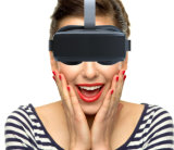 2015 teatro móvel confidencial pessoal do projeto o mais novo 3D HMD-518, auriculares da realidade virtual dos vidros da caixa 3D de Vr