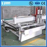 Máquina esperta do Woodworking do CNC da gravura giratória principal dobro de múltiplos propósitos